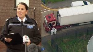 British police hold briefing after 39 bodies found inside truck container