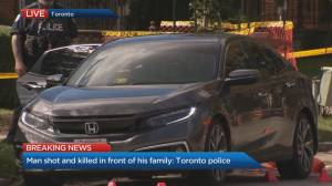 Man shot and killed in front of family in North York