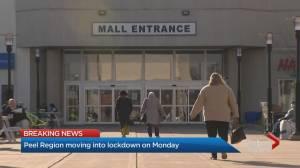 Coronavirus: Peel Region businesses brace for lockdown (02:08)