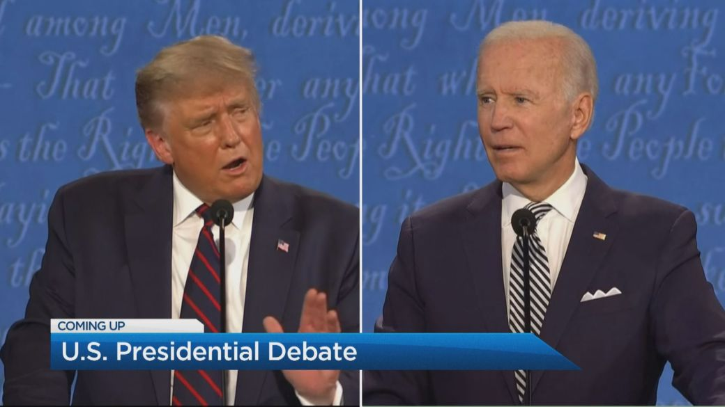 Click to play video 'First presidential debate marked with insults, clashes in 'disastrous' night'