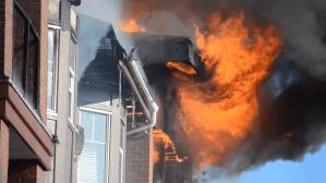 Massive fire guts Langley condo complex