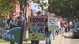 Students prep for climate strike held in Fredericton