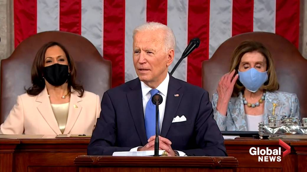 'Biden says these are extraordinary times of 'crisis and opportunity' in 1st address to joint session of Congress'