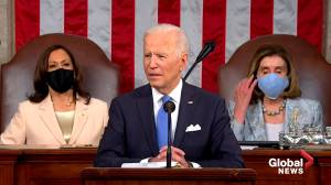 Biden says these are extraordinary times of 'crisis and opportunity' in 1st address to joint session of Congress (02:24)