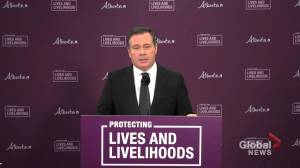 Kenney responds to questions about speaker of the house openly opposing COVID-19 restrictions (01:22)