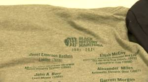 Shirts honouring Black inventors to be passed out at Winnipeg schools (01:45)