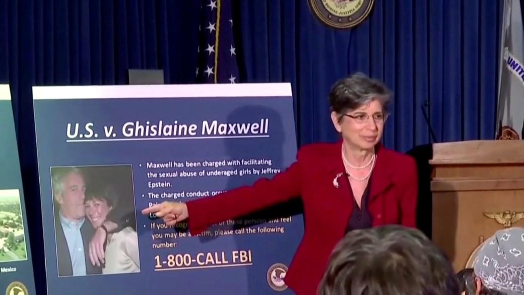 Click to play video 'Ghislaine Maxwell loses bid to keep Epstein testimony secret'