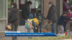 COVID-19: Parents in Toronto react to school shutdown (02:26)