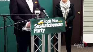 Saskatchewan Party denounces QAnon, names replacement candidate in Saskatoon Eastview (01:27)