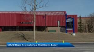 Alberta's COVID-19 rapid testing pilot program begins (02:21)