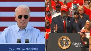 U.S. election: Trump, Biden fight for Florida votes (01:37)