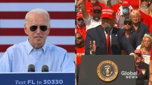 U.S. election: Trump, Biden fight for Florida votes (01:37)
