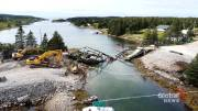 Play video: Person taken to hospital after bridge near Canso, N.S. collapsed