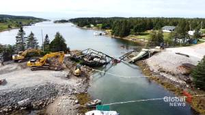 Person taken to hospital after bridge near Canso, N.S. collapsed