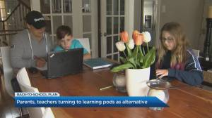 Parents, teachers turning to learning pods as alternative