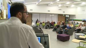 Yusuf Faqiri speaks at Durham College Social Justice Week