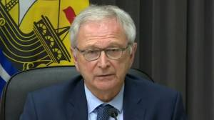 New Brunswick premier encourages blockade at N.S. border to open (02:03)