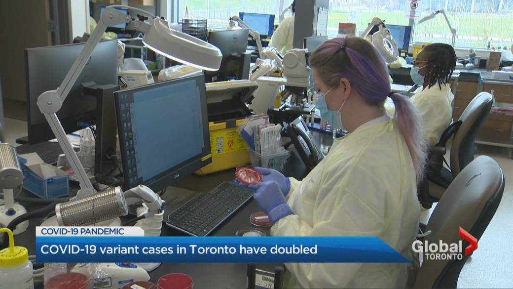 Click to play video 'Coronavirus variants of concern continue to spread in Toronto, Peel as regions head into grey lockdown level'