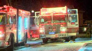 Calgary Fire Department extinguishes Applewood Park townhouse fire