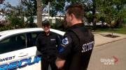 Play video: Security guard left shaken following random, violent encounter in northeast Calgary