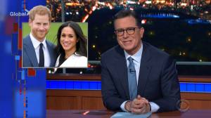 Stephen Colbert jokes about 'Megxit,' suggests 'Colbentrance'