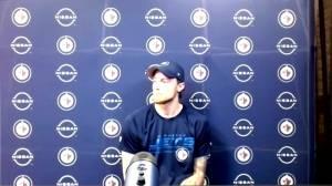 RAW: Laurent Brossoit interview after Jets win over Sens (03:05)