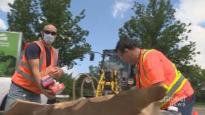 Montrealers come together for Canada Day with food drive