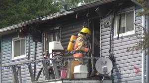 Three displaced after house fire in Ennismore (00:45)