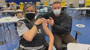 Surrey and White Rock first responders jump to front of COVID-19 vaccination queue (02:01)