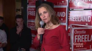 Federal Election 2019: Chrystia Freeland re-elected in University-Rosedale riding