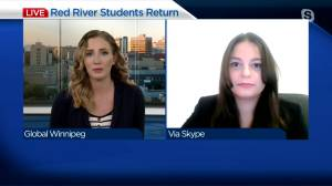Red River College students return to campus (04:01)