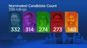 Tories lead, NDP trails in election candidate count