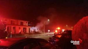 Overnight house fire in Kelowna