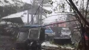 Super typhoon Goni hits Philippines bringing ferocious winds, heavy rains (02:43)