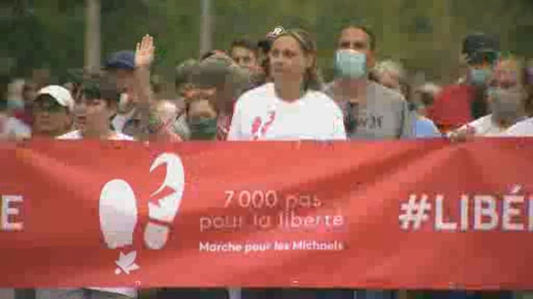 Click to play video: 'Family, friends hold 'March for the Michaels''