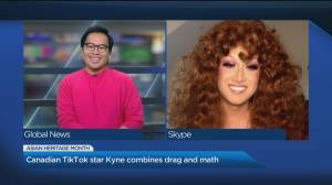 Drag queen Kyne Santos uses TikTok to educate followers about math and glamour (04:18)