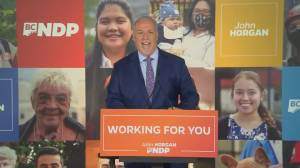 B.C. NDP's pandemic election gamble pays off, wins majority government (02:17)