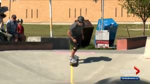 Calgary teen who is visually impaired wins award for designing adaptive skateboard park (00:59)