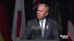 9/11 anniversary: Bush calls out domestic terrorism while marking 20 years since terror attack (01:12)