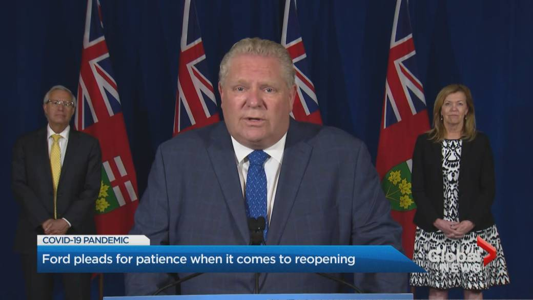 Ontario State Of Emergency Extended Again Doug Ford Insists Reopening Is Not On Hold Globalnews Ca