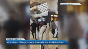 Yorkdale Mall video shows what some say are inequities in provincewide COVID-19 shutdown measures (02:01)