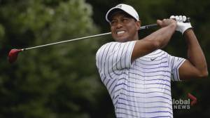 Tiger Woods in hospital after single-vehicle collision (02:20)