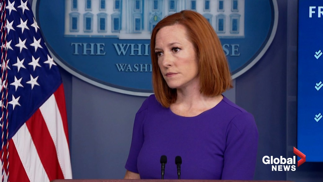 Click to play video: 'White House press secretary says U.S. troops need to withdraw from Afghanistan'