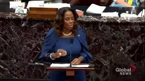 Trump impeachment: Former president 'deliberately encouraged' Capitol violence, Rep. Plaskett argues (01:41)