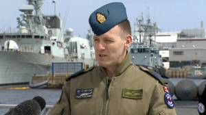 RCAF spokesperson expands on 'operational pause' for Cyclone helicopter fleet (00:50)