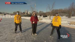 Skate marathon in support of the Alzheimer Society of Montreal (03:00)
