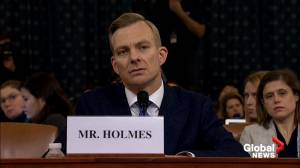 Trump impeachment hearings: Holmes testifies Sondland saying Ukraine president will 'do anything you ask'