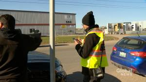 Crown employees blockade SaskTel call centre; plan to return to work Tuesday
