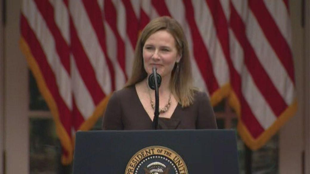 Click to play video 'U.S. Senate prepares to battle over SCOTUS nominee Amy Coney Barrett'