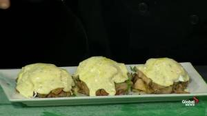Turkey dressing eggs benny with the Green Bean Java Bistro